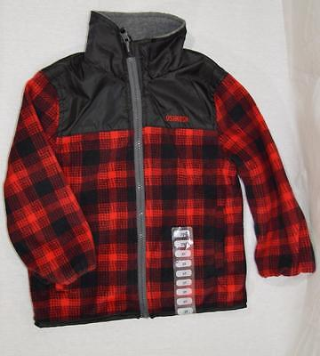 Genuine Kids Oshkosh  Bgosh Toddler Boy Light Jacket Coat Reversible NWOT #P167