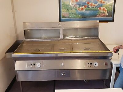 Fish & Chip 2 Pan Island natural GAS frying range