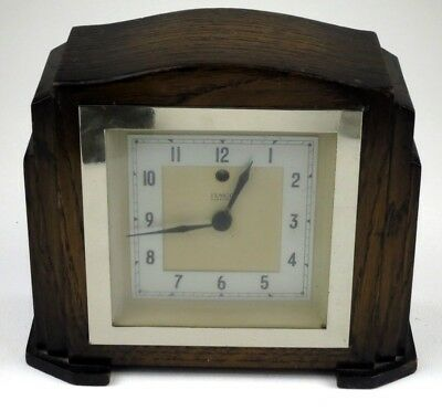 Temco Wooden electric Art Deco mantle clock Telephone MFG Co Ltd