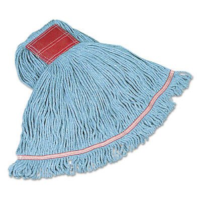 Swinger Loop Wet Mop Heads, Cotton/Synthetic, Blue, Large