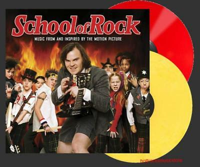 ORIGINAL SOUNDTRACK SCHOOL OF ROCK VINYL New SEALED Red + Yellow Colored 2 LP