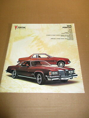 1976 Pontiac sales brochures----Pontiac, The Mark of Great Cars