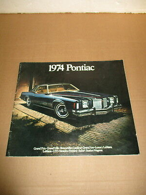1974 Pontiac sales brochures---feauturing Grand prix, Bonneville, Grand Am, etc.