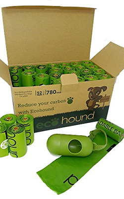 Ecohound 780 Dog Waste Bags/Dog Poo Bags with Dispenser I Large, Thick And Leak