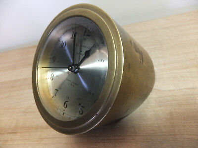 Bell Clock Co.   Quartz Ships Mantle Clock Brass  EXC WORKING COND!  used