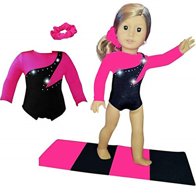 Doll Connections Gymnastics Leotard Outfit Compatible with American Girl Dolls -
