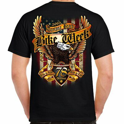 d3f3573c4d MENS DAYTONA BEACH Bike Week 2019 Motorcycle Eagle Biker T-shirt ...