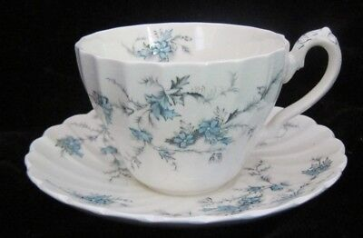 Myott FORGET-ME-NOT Staffordshire England -- CUP & SAUCER