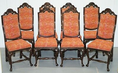 Rrp £7600 Set Of Eight (8) Grand House Of Spain Inc Dining Chairs Ornate Frames