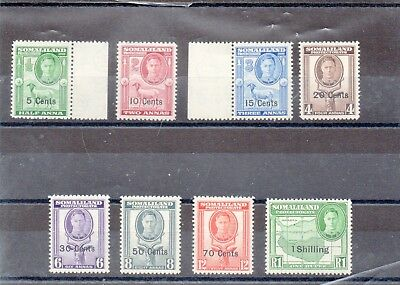 Somaliland 1951 set to 1r SG 105-13 mint. Cat £15.80