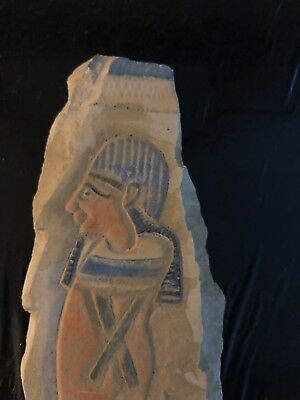 Rare Ancient Egyptian Relief Limestone  (350 BC-300 BC)