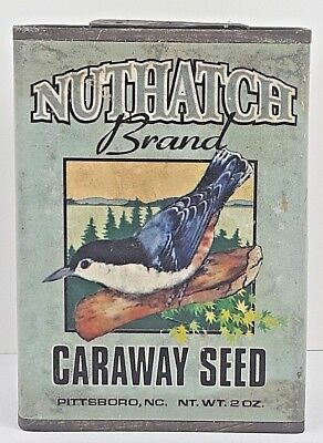 Spice TIN Caraway Seed NUTHATCH Brand Decorative Reproduction