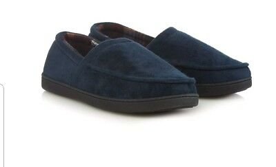 10f7d43a519 BNWT Maine New England Men Navy  Thinsulate  Memory Foam Slippers UK size 9