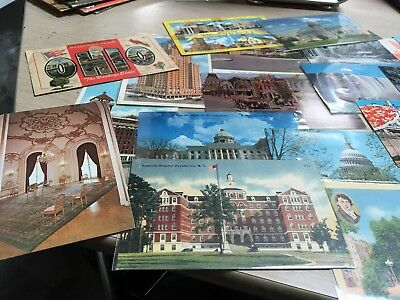 Lot of 40 Vintage postcards, Random cards from the 1940s to '80s, post cards