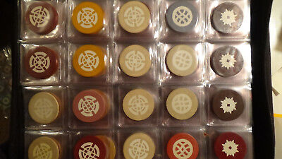 Chips Casino Lot 100  Rare Inlay Mold Chips  Crest Seal Vintage Clay Illegal  1