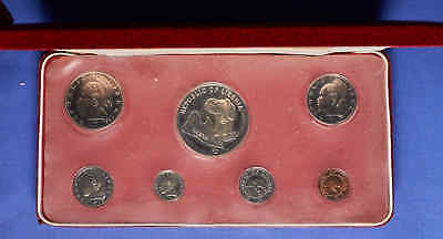 1974 Liberia Proof Set w/silver in presentation case.7 Total Coins. No Reserve.