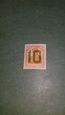 1919 Germany Overprinted Poland Provisional Issue Sc#78 10pf on 7.5pf (G) MNH