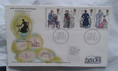 1975 Great Britain GB UK Bi-Centenary of the Birth of Jane Austen First Day FDC