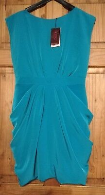 NWT Baker By Ted Baker Drk Turquoise Exposed Zip Dress 14yrs