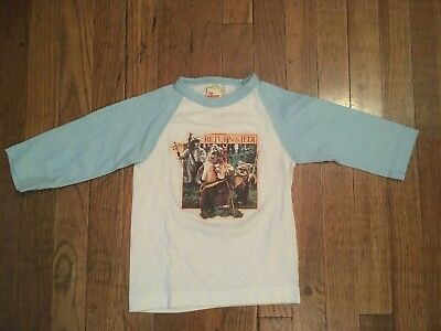 Original Vintage 1983 STAR WARS RETURN OF THE JEDI T Shirt Leia Yoda Ewoks 80's