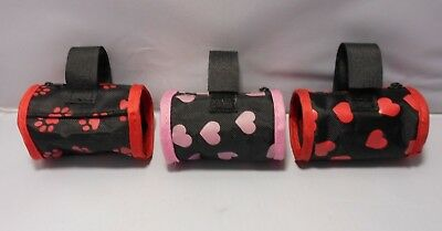 Barrel Style Heart/Paw Print Doggie Bag Mini Dispensers (No Baggies Included)