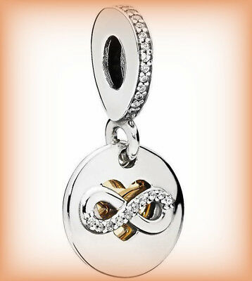 Genuine PANDORA Heart of Infinity Pendant Dangle Charm 796200CZ Silver S925 ALE