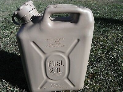 SCEPTER Desert Tan / Sand Jerry Gas Can Fuel Military MFC 5gl 20L JEEP ARMY USMC