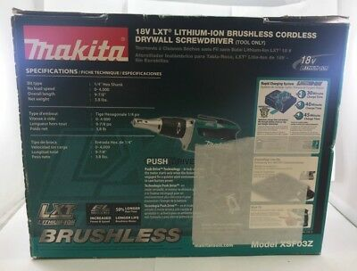 Makita XSF03Z 18-Volt Lithium-Ion Cordless Drywall Screwdriver TOOL ONLY