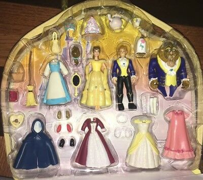 DISNEY Belle Deluxe FASHION Princess SET Theme Parks Magic Clip Polly BEAST!