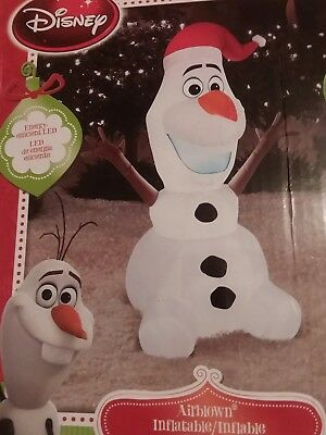 Disney 3.5 ft Tall Airblown  Inflatable Olaf from Disney production Frozen