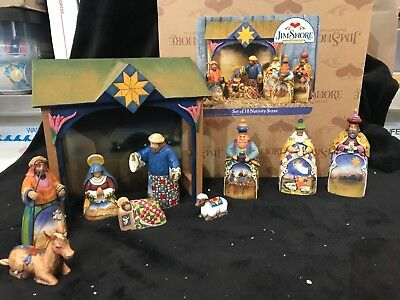 jim shore nativity set 10 piece set