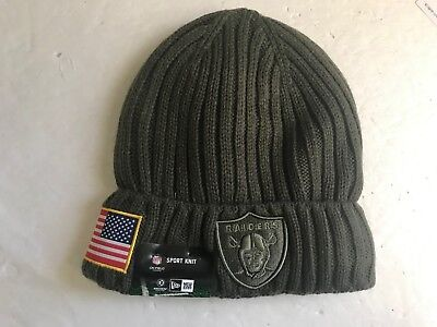 newest 372ea b8c15 ... free shipping new era oakland raiders nfl sideline salute to service  beanie cuff knit hat e0e85