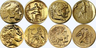 Alexander,  4 Famous Greek Coins, Percy Jackson Fans, Greek Mythology (4ALEX-G)