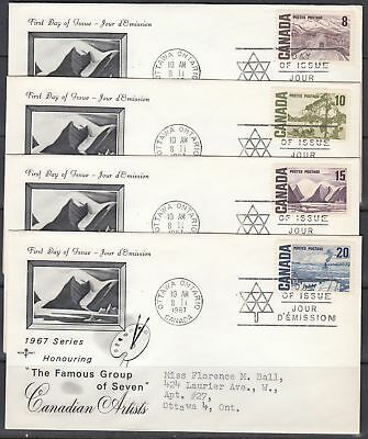 Canada Scott 461-65B Rose Craft FDC - 1967-73 Centennial Issue