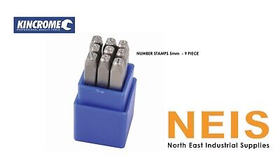 Kincrome Number Stamp Set 5MM 9pc K15003