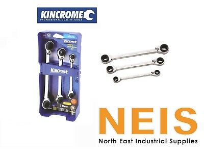 Kincrome Reverse Gear Spanner Set Metric 3 Piece - K3007