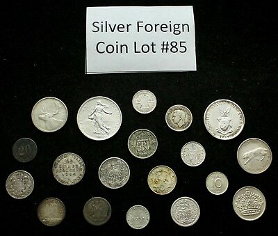 Foreign Silver Coin Lot: Collection of Old World Silver Coins #85