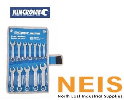 Kincrome Stubby Combination Spanner Set 12 Piece K3039