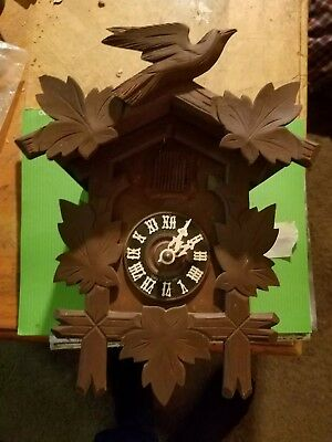 Vintage cuckoo clock small one day from Germany