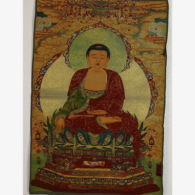 Tibet Collectable Silk Hand Painted  Painting Buddhism Thangka  RK003