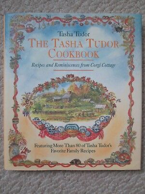 TASHA TUDOR COOKBOOK~Signed~RECIPES CORGI COTTAGE~1993 1ST HCDJ~