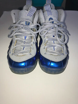 info for 02e72 16681 Men s Nike Air Foamposite One Sport Royal Game Wolf Grey Size 9