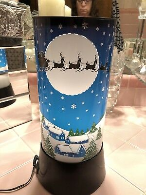 """Santa Claus Rotating Motion Lamp Light Excellent 12.5"""" Tall"""