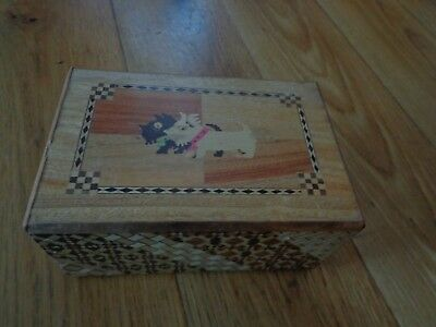 Vintage Japanese Wooden Trick Box~Hand Made  Puzzle Box