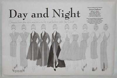 UNCUT DOLL CLOTHES SEWING PATTERN ~ Day And Night GENE MARSHALL Dresses