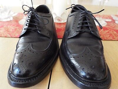 VTG10.5 D Hanover LB Sheppard Signature Pebble Leather Wingtips Made in U.S.A.