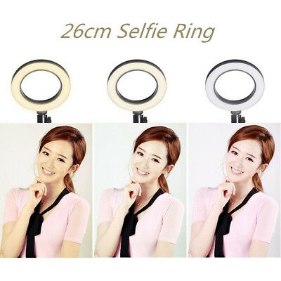 26cm Ring Light with Stand 5600K Dimmable LED Lighting Kit Makeup Youtube Live