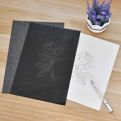 100Pcs Carbon Transfer Graphite Paper Tracing Paper for Wood Paper Canvas Art