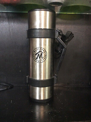 Marlboro Country Store Silver Thermos Insulated Bottle Cigarette Collectible