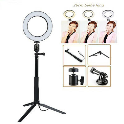 """10"""" Dimmable Selfie Led Ring Light Photography Camera Studio with Go pro Stand"""